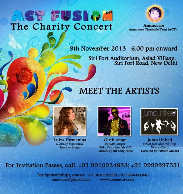 ACT Fusion. Charity Concert in New Delhi