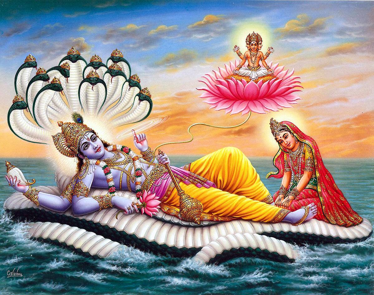 Donna e aggressività Vishnu-ananta