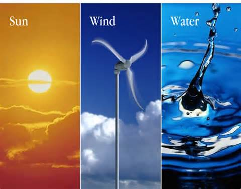 Sun, wind and water are natural energy resources that do not contaminate the Earth.  And we chose to use the oil...