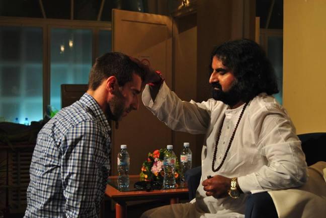 Mohanji giving shaktipat