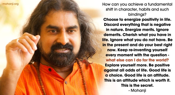 Mohanji quote - Energise merits