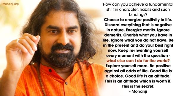 Mohanji quote - Energise merits