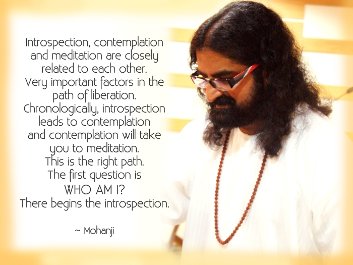 Mohanji quote Introspection