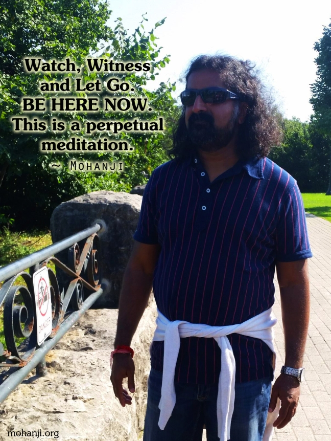 Mohanji quote - Watch witness and let go