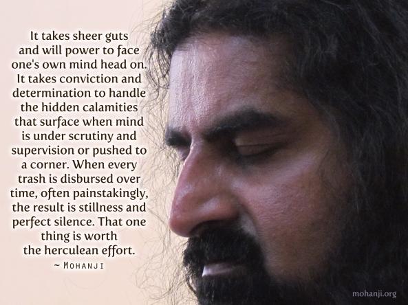 Mohanji quote - Herculean effort