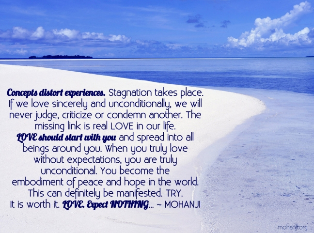Mohanji quote - Concepts distort experiences