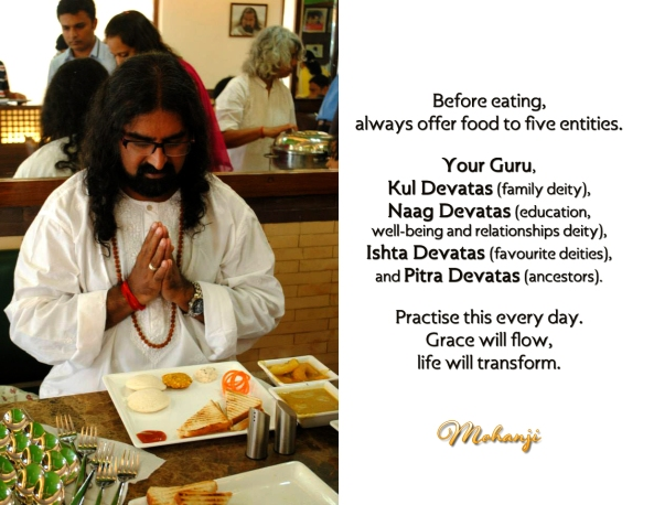 Mohanji quote - Before eating always offer food