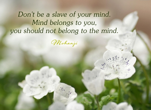 Mohanji quote - Do not be a slave of your mind