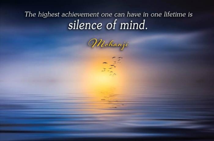 Mohanji quote - The highest achievement .