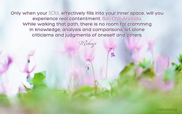 Mohanji quote - When your soul effectively fills into your inner space