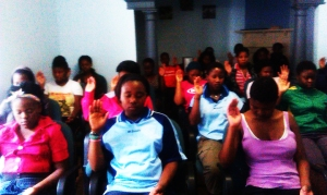 Power of Purity -meditation-in-the-house group healing the abused girls in Johannesburg