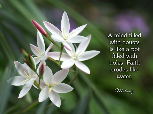 Mohanji quote - A mind filled with doubts
