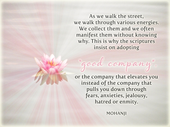 Mohanji quote - As we walk the street