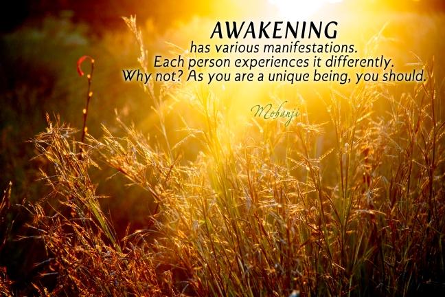 Mohanji quote - Awakening has various manifestations