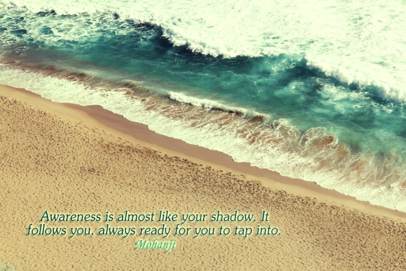 Mohanji quote - Awareness is almost like a shadow It follows you