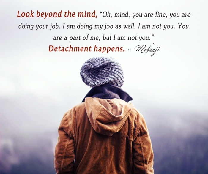 Mohanji quote - Look Beyond the mind