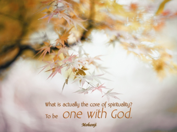 Mohanji quote - What is actually the core of spirituality