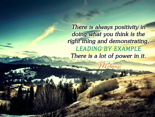 Mohanji quote - There is always positivity in