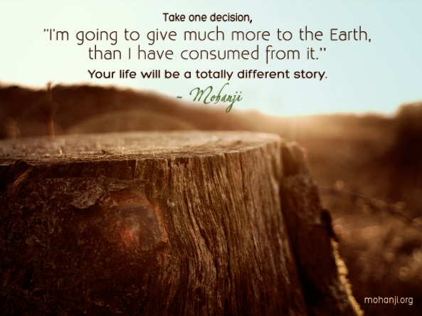 Mohanji quote - Take one decision