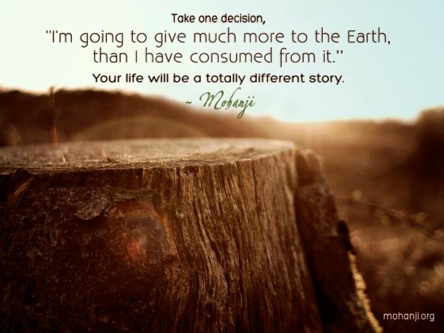 Mohanji quote - Take one decision