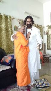 Mohanji and Devi Amma from Bangalore, mother and son
