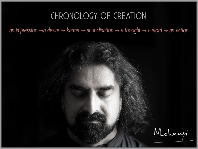Mohanji quote - Chronology of creation