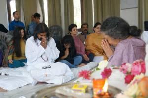 Vanamali Mata a guest speaker at the Rishikesh retreat with Mohanji