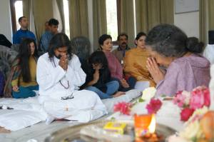 Vanamali Mata a guest speaker at the Rishikesh retreat with Mohanji
