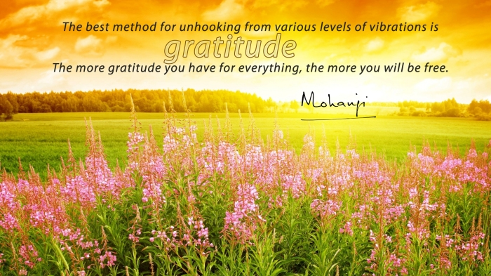 Mohanji quote - The best method for unhooking... Gratitude