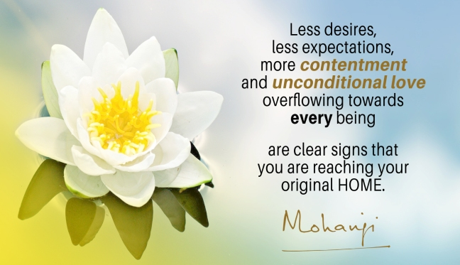 Mohanji quote - Less desires less expectations