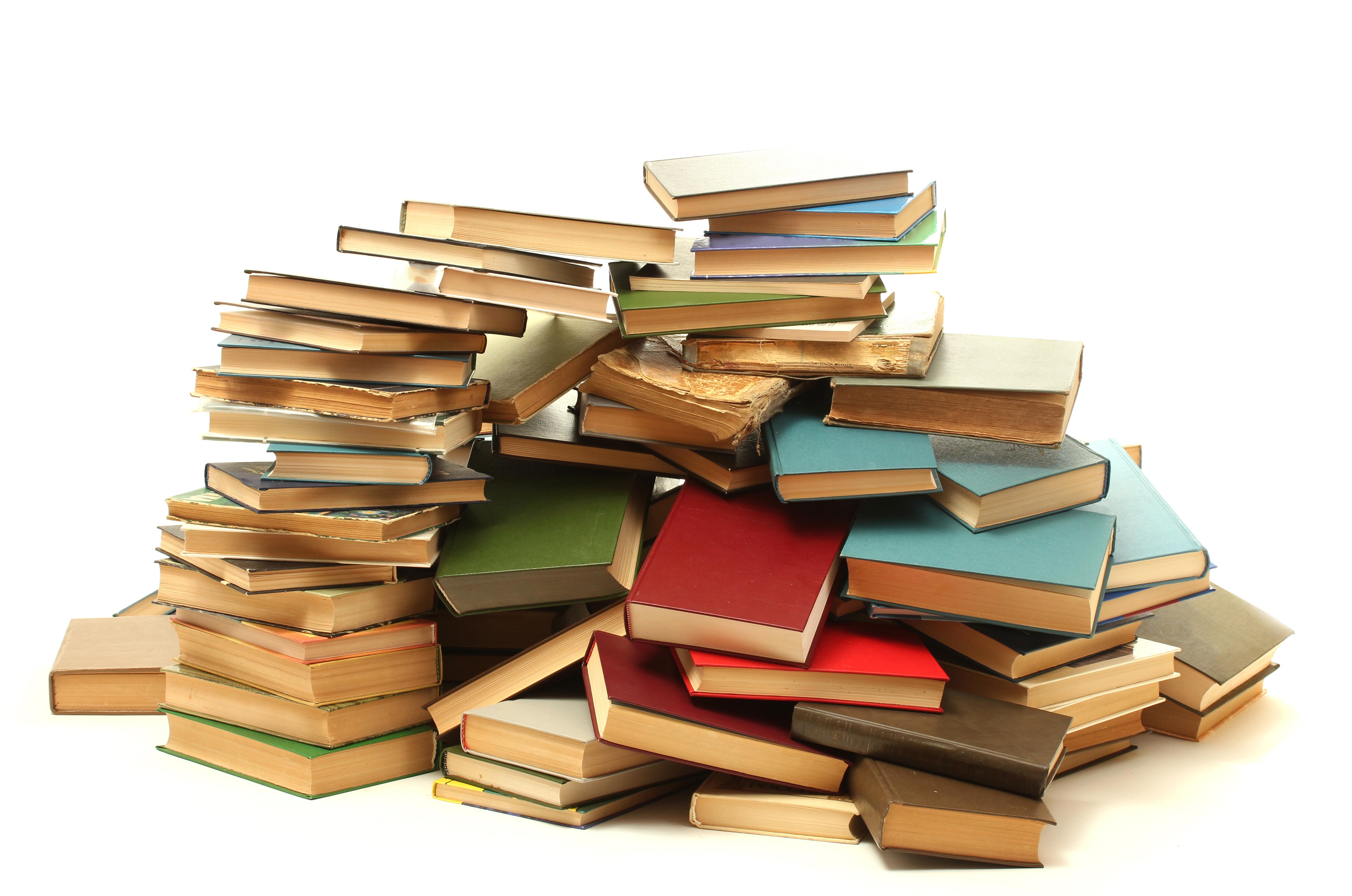 books pile change story