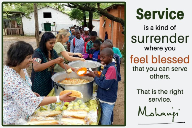 Mohanji quote - Service is a kind of surrender