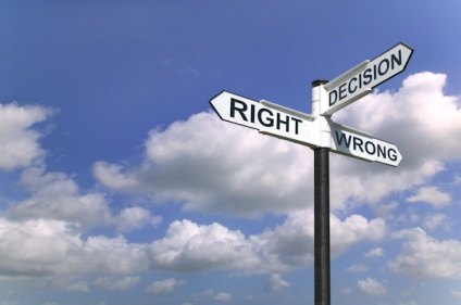 right decision wrong decision choice