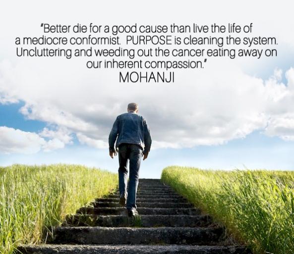 Mohanji quote - Go for the purpose