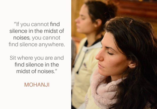 Mohanji quote - Find silence in the midst of noises