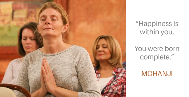 Mohanji quote - Happiness is within you