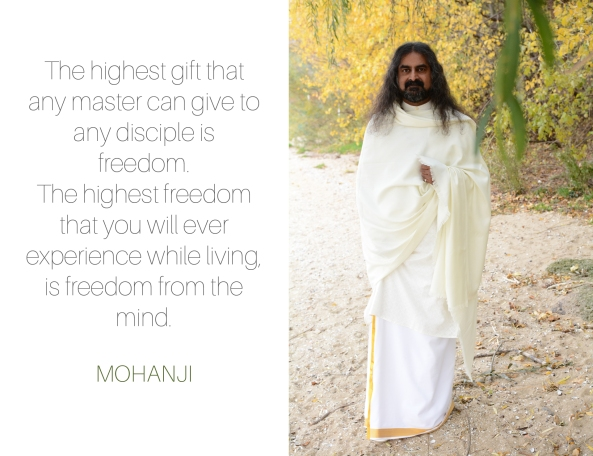 Mohanji quote - The highest gift