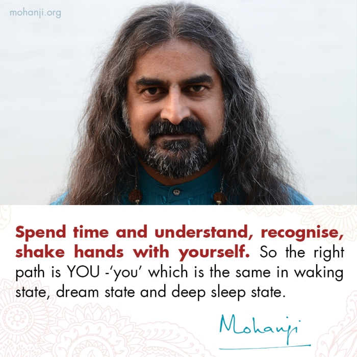 Mohanji quote - Spend time with yourself