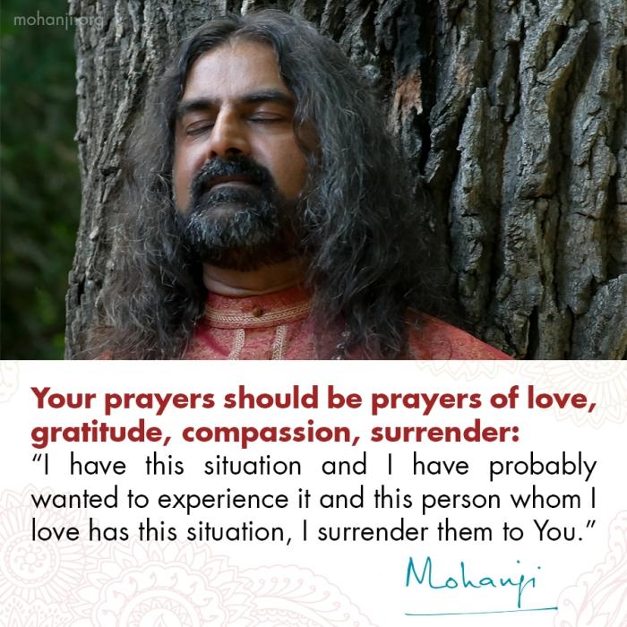 Mohanji quote - Prayer