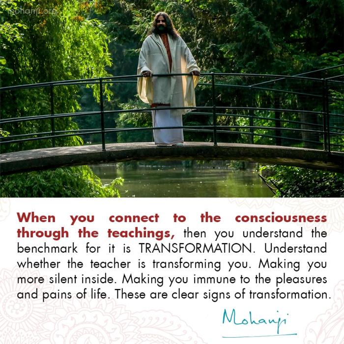 Mohanji quote - Transformation