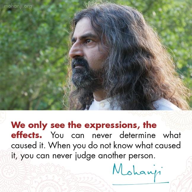 Mohanji quote - Non-judgement