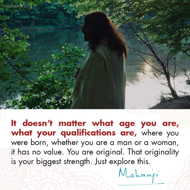 Mohanji quote - Originality