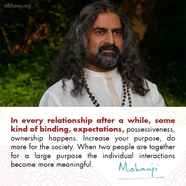 Mohanji quote - Relationships