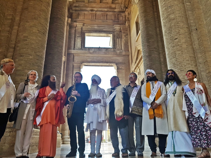 Mohanji as a peace activist in Assisi, Italy