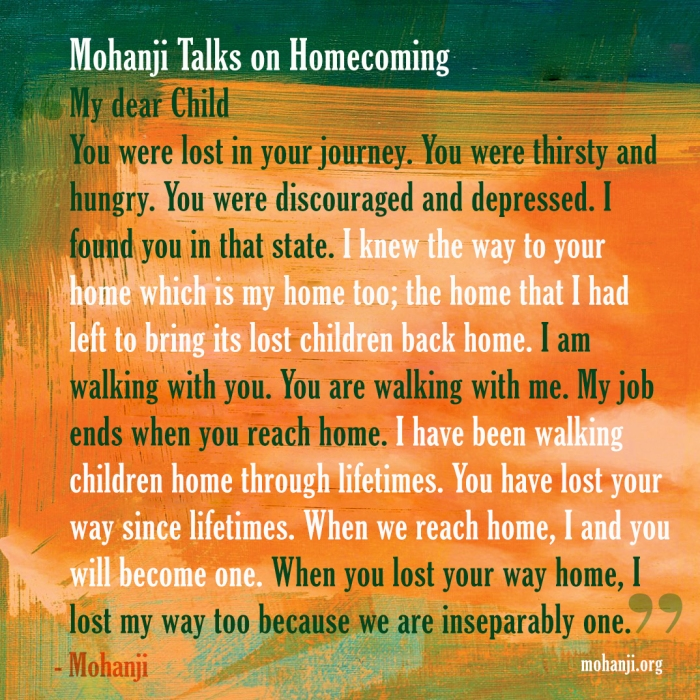 Mohanji quote - Homecoming