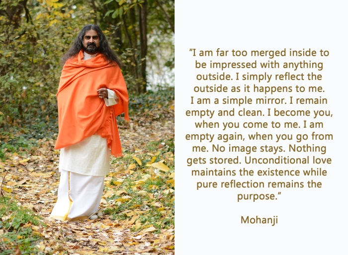 Mohanji quote-I am a simple mirror