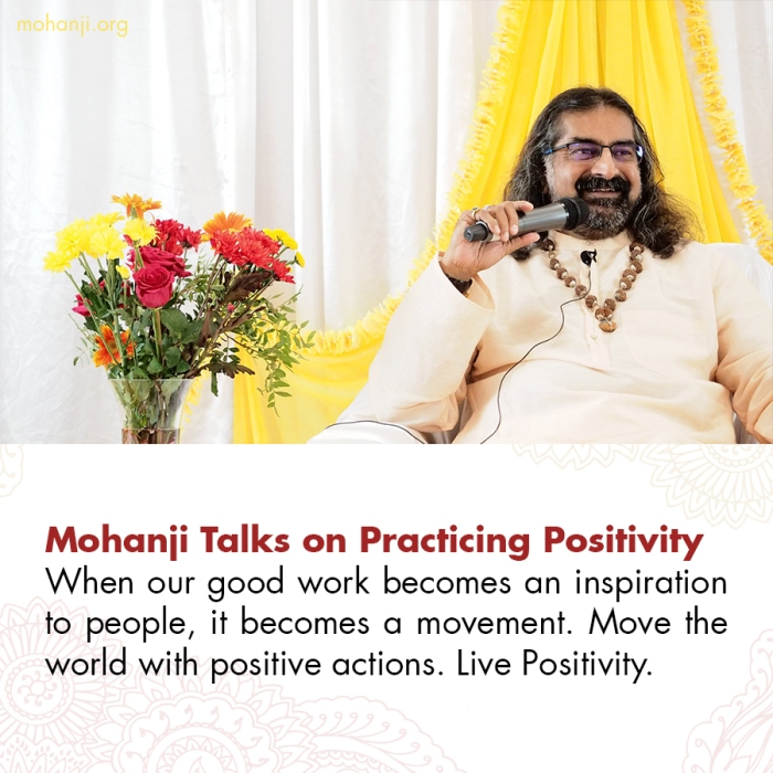 Mohanji quote - Practicing Positivity 2