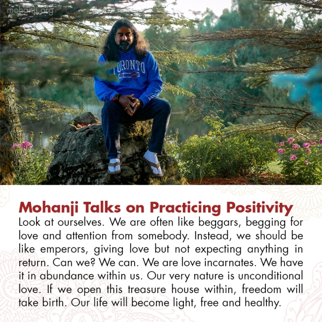 Mohanji quote - Practicing Positivity 3