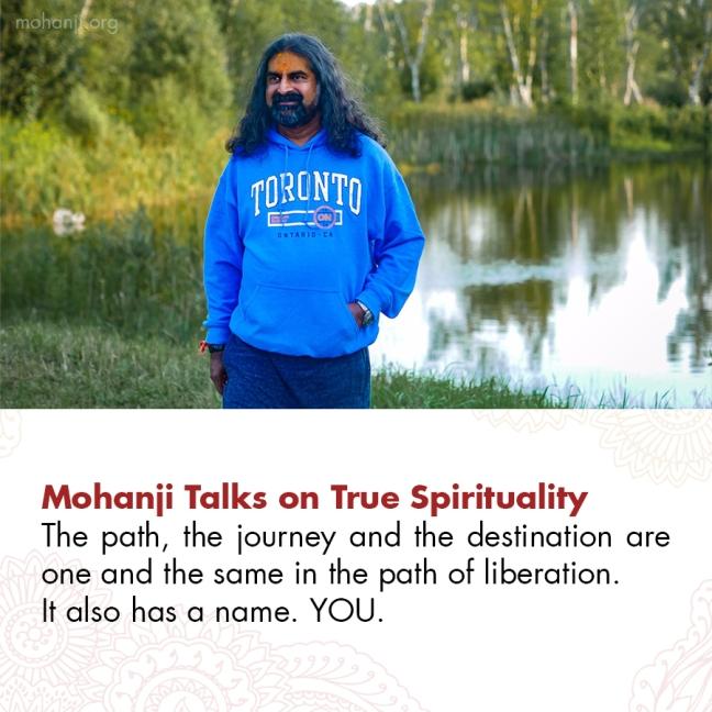 Mohanji quote - True spirituality