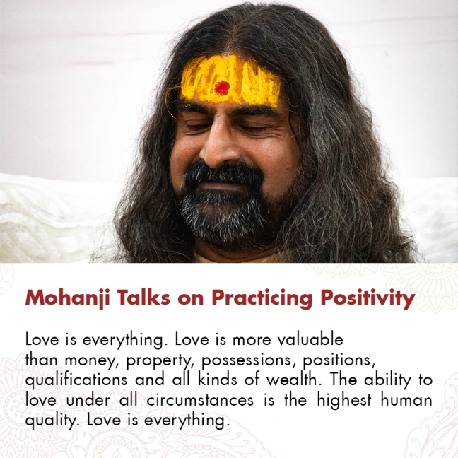 Mohanji quote - Practicing Positivity 12